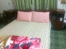 Double Bed With side table without mattress