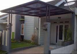 konstruksi pemasangan atap kanopi , baja ringan & baja berat