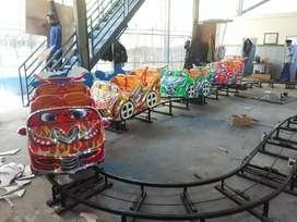 Kereta lancar usaha mini coaster Labirin run mainan sewa DAP