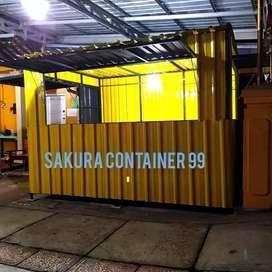 Box container, booth makanan, booth minuman, booth usaha, booth bazzar