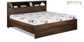 Today discount Buy new double bed with box 6500/- EMI available