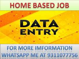 Home based data entry part time job of typing and ad posting .join now