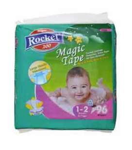 Rocket magic diapers & baby wipes
