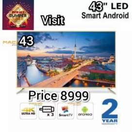 The BRAND NEW SMART 43 INCH LED TV FULL HD QLED WITH 2 YEAR WARRANTY