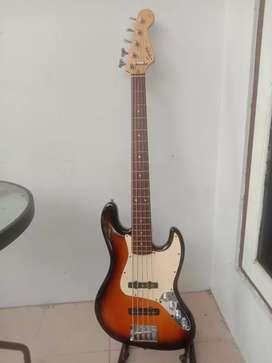 Squier V string Jazz Bass Affinity by Fender UPGRADE MANTAP