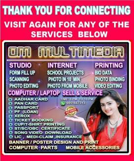 Wanted  girl /boy for a cyber cafe.
