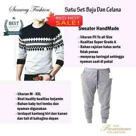 AM00187 Celana Setelan Satu set Sweater dan celana jogger