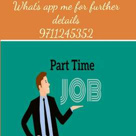 People interested to work from home can work part-timepart-time