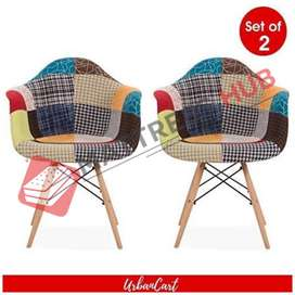 Brand New Multicolor Patch Living Room Chairs set of 2 by Mattress Hub
