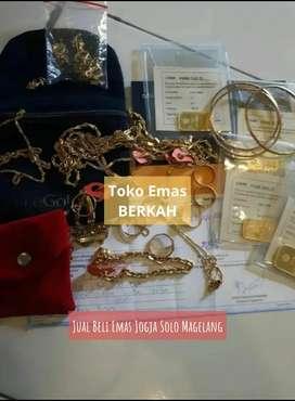 Jual Beli Emas Perhiasan Gelang Cincin Antam UBS Dinar Segala Kondisi
