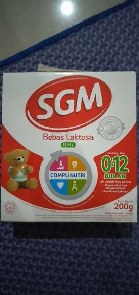 Susu SGM Bebas Laktosa LLM+ 0-12 bulan 200gr