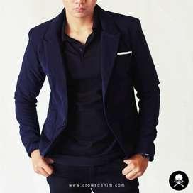 Jas Blazer Pria Blue Skinny Suit Korean Style – SK84