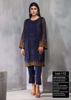 2pc lawn Heavy Embroidered
