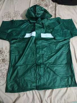 Pvc Rubber Rain Coat Green, Blue