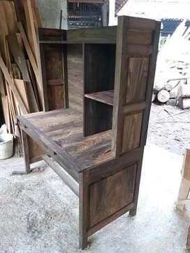 meja belajar meja kerja kayu galih sono