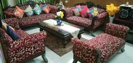 Nine seater sofa set with center table