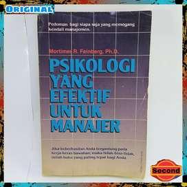 Buku Psikologi Yang Efektif Untuk Seorang Manajer By Mortimer feinberg