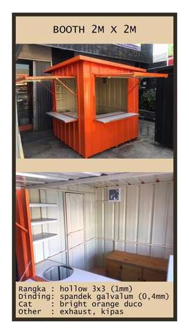 booth Container murah gila