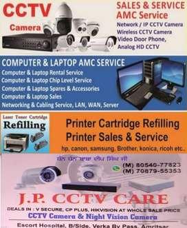 Computer, laptop , printer ,cctv camera repairs