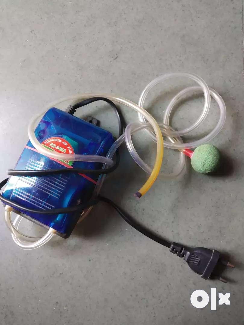 Aquarium accessories dual power oxygen pump pebble & tube oxygen stone