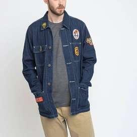 Deus ex Machina denim jacket jeans original murah