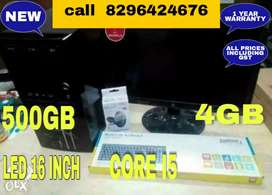 CORE I5 2ND GEN/500/4GB/LED 16 INCH/ KEYBOARD MOUSE FULL SET 13000 Onl