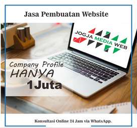 Jasa Pembuatan Website Jogja Murah mulai 500rb Free domain . com & SEO