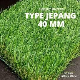 Rumput Sintetis Type Jepang dan Swiss Tinggi 40mm Dekorasi artificial