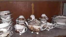 piring antik johnson bros dinner set made in england tahun 1930