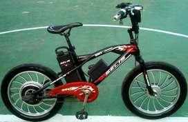 Sepeda Listrik BMX thunder.ban besar.normal,harga NEGO