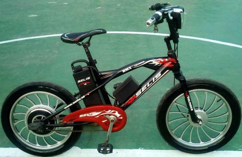 Sepeda Listrik BMX thunder.ban besar.normal,harga NEGO 0