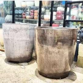 Pot Terazzo Gentong Besar  Batu alami Naturall