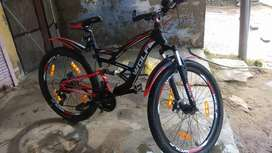 WOLF MOUNTAIN BIKE WITH ELUMINIUM WHEEL AND FRONT AND BACK DISK BREAK