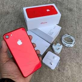 Iphone 7 128gb RED mulusss fullset baterai joss [MAXBOX STORE]