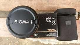 Lensa Sigma 12 24 mm DG for nikon Fx/dx