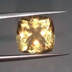 Batu Permata Kecubung Golden Citrine Quartz Kotak kode B114