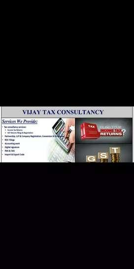 GST registration and TDS Filing