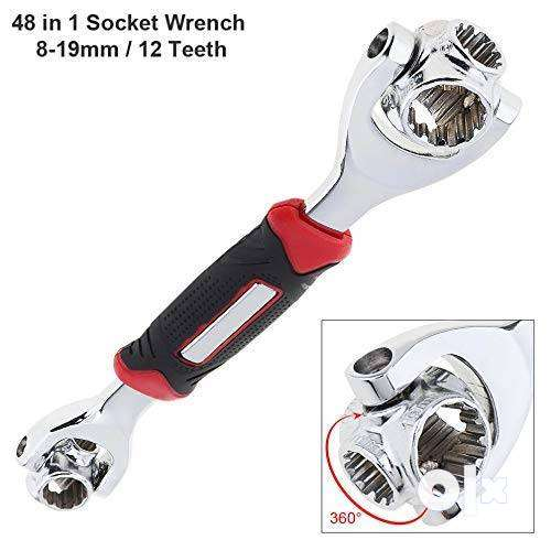 Tiger wrench,48 in 1 Tiger Wrench Tools Socket Works with Spline Bolts 0