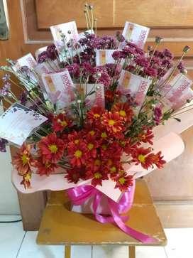 Buket uang dan bunga ELEANOR FLORIST
