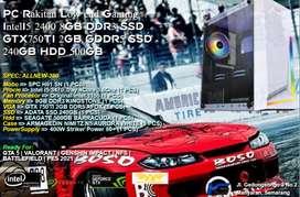 PC Rakitan Gaming IntelI5 2400 8GB DDR3 SSD GTX750TI 2GB GDDR5
