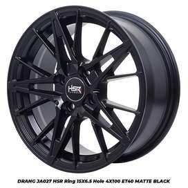 Velg mobil Honda Brio R15 lebar rata warna pull black
