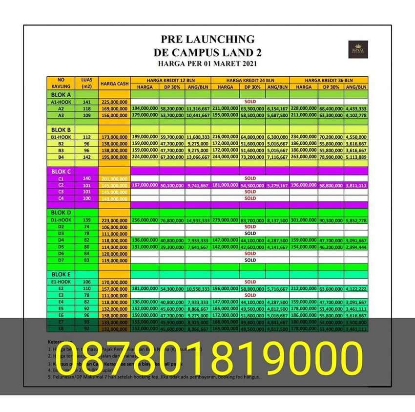 2 unit Tanah kavling murah untuk rumah kost ( de campus land ) siraman