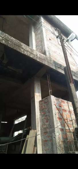 2 storryed House incomplete with land in Bazar Road, Kokrajhar
