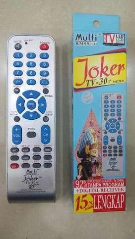 REMOT REMOTE TV MULTIU NIVERSAL TABUNG LCD LED JOKER