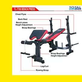 bench press total fitnes beban multigym G-098
