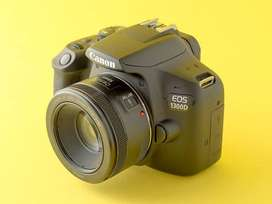 CANON 1300D WITH 3 LENSES