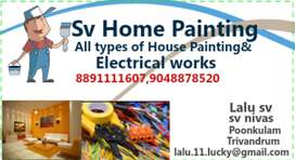 House painting & electrical works