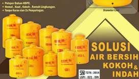 Tandon air 1000 liter Toren bahan plastik HDPE