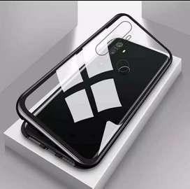 Case Oppo Realme 5 Pro Case Magnetic Tempered Glass Dan Metal Frame