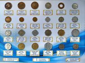 British INDIA & Republic INDIA Coins Set. 24 Coins for 552 Rs
